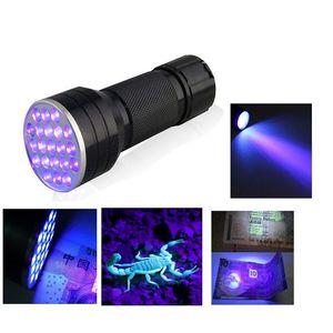 Алюминий невидимый Blacklight для обнаружения чернила маркер 21 из светодиодов УФ ультрафиолетовый мини портативный многофункциональный фонарик Факел свет LEF_605