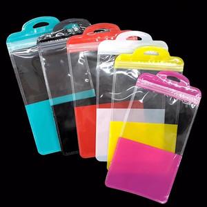 Universal Zip Zipper inteligente Moblie telefone Acessórios Case Capa Bolsa OPP PVC plástico Poly Bag Retail Package Embalagem Sob 6.1inch