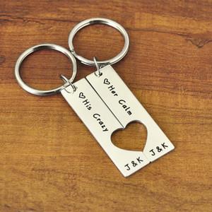 شخصية مجموعة الأزواج المفاتيح ، والعرف مفتاح الطوق مجموعة القلب مع قطع القلب هدية عيد الحب هدية صديقها