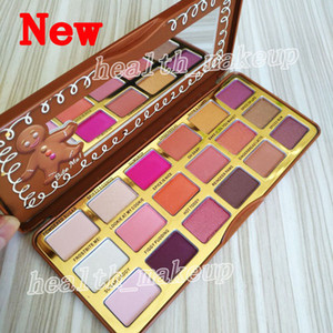 Top Quality Making Up Eyeshadow 18 Color Gingerbread Spice Palette Makeup Sweet Peach Chocolate Shimmer Eye Shadow Palettes Fashion DHL Free