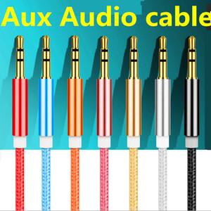 Cavo ausiliario Audio Aux intrecciato da 1.2m 3.5mm Prolunga Aux da uomo a maschio da 1.2mm Cavo audio da auto stereo da 1.2M per dispositivo digitale