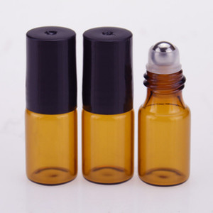 New Hot 3ML Roll-on Roller Bottles for Essential Oils Roll-on Refillable Perfume Bottle Deodorant Containers with Black Cap