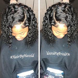 Vague d'eau Perruques de Cheveux Humains Court Bob Full Lace Wig Avec Bébé Cheveux Pré Pincées Brésilienne Vierge Cheveux Humains Dentelle Perruques 130% Densité