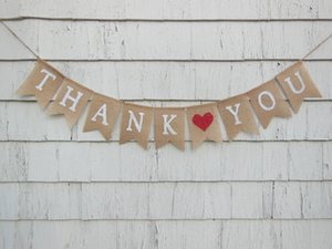 customize Thank You Rustic Country Barn wedding burlap Banners BRIDAL SHOWER engagement party Buntings garlands Photo Prop signs