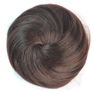 banda de goma elástica 10colors de las mujeres en moños del pelo del buñuelo bollos de pelo sintético resistente al calor de alta calidad