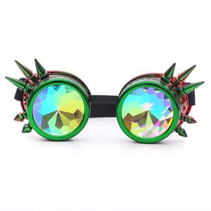 oculos Kaleidoscope Sunglasses Halloween Mulheres Espetáculos Feminino Punk Partido Festival Rave Óculos senhoras Óculos UV Óculos