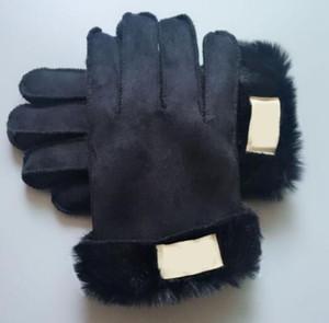 Sonbahar erkekler / kadınlar eldiven kış sıcak imitasyon kürk tek koyun taklit saç noktaları kalınlaşma eldiven peluş astar sürme rüzgar geçirmez eldiven