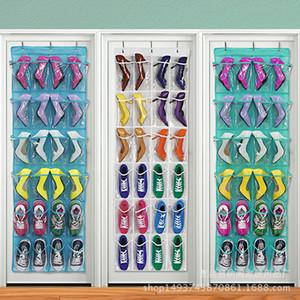 24 Cepler Üzerinde Kapı Asılı Çanta Askı Depolama Düzenli Saklama Kutusu Ayakkabı Kapıdan Sonra Asılı Çanta