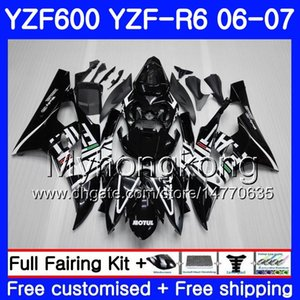 Cuerpo + tanque para YAMAHA YZF R 6 YZF 600 YZF-600 YZFR6 06 07 Bastidor 233HM.19 YZF-R6 06 07 YZF600 YZF R6 factory black hot 2006 2007 Fairings Kit