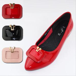 Бесплатная доставка сплошной прямоугольник украшения для женщин бездельник кожаные ботинки металлические аксессуары обувь очарование высокое качество