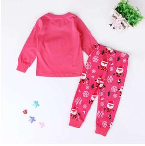 아이 여자 크리스마스 파자마 세트 아기 여자 의류 세트 2-7 년 어린이 소년 잠옷 Baby Pijama Pajama Suit