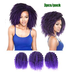 "Afri Naptural Kinky rizado freetress Extensiones de cabello a granel 8 ""Mali Bob Afro Twist Kinky rizado Freetress Trenzas de ganchillo Malibob varita varita de rizo"