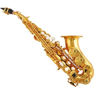 YANAGISAWA Curved Soprano Saxophone S-991 Gold Key Brass Sax Professional Mouthpiece Patches Pads Reeds Bend Neck