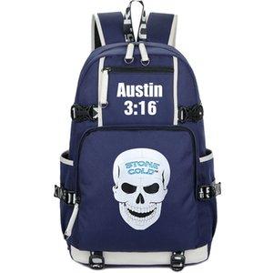 Стив Остин рюкзака поклонники Stone Cold рюкзак брань звезда Schoolbag ДОСУГ ранец качество рюкзак Спортивной школа сумки дверь день пакет