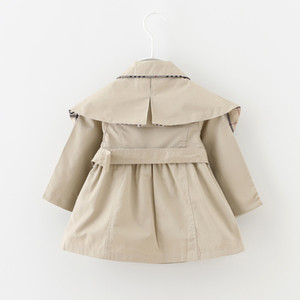 Baby Toddler girls spring lapel Waistband Windbreaker Coat Outerwear Jacket baby girl clothes