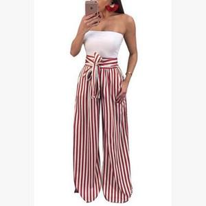 Strechy elástico Cintura alta Harem Pantalones Mujeres Bowtie Cinturón Pantalones largos delgados Womens Casual Capris con bolsillos