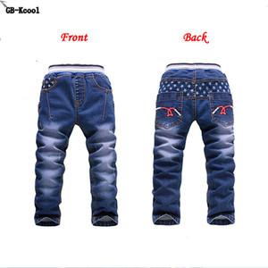 GB-Kcool Kış Büyük Erkek Kot 2016 Çocuk Denim Kalın Sıcak Pantolon Rahat Çocuklar için Artı Kadife Kız Kot Erkek Pantolon 2-14 y