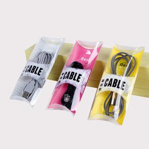 Embalagem plástica da caixa do empacotamento do PVC para o cabo de USB para a linha de dados cabos das caixas do pacote da nota 8 de Samsung