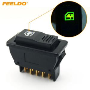 Feeldo auto universale 5pins Car Power finestra Interruttore 12V / 24V 20A con l'indicatore di illuminazione # 1440