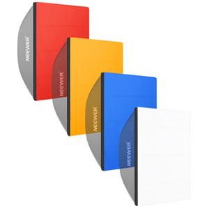 Difusor de Softbox Fotografía al por mayor - 25x25 pulgadas / 64x64 centímetros con 4 colores Rojo / Amarillo / Azul / Blanco (Softbox NO Incluido)