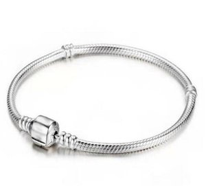 Top-Qualität 925 Silber Armband 16cm-23cm Schlange-Ketten-DIY Schmuck Accessoires passen europäischen Style Beads