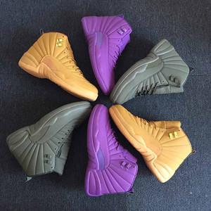 Los nuevos Mens 12 12s zapatos de baloncesto Bulls Vachetta Taxi El maestro tamaño de las zapatillas de deporte Deportes marino oscuro azul real de la universidad 41-47