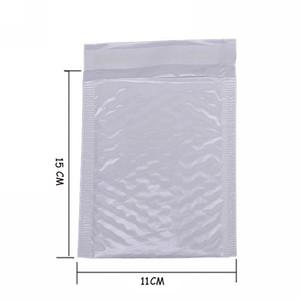 Wholesale- 10X Kawaii impermeabile bianco perla pellicola Bubbel 11 * 15 busta Bulle Bag Mailer imbottito buste di spedizione con bolla Mailing Bags
