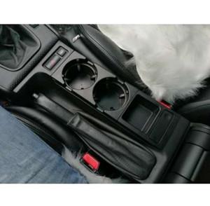 Estante de la consola central delantera doble del coche del agujero doble / caja del cambio para BMW E46: negro