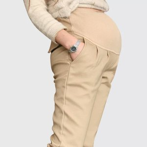 Maternity Pants Large Size allentato casuale pantaloni di cotone a vita alta elastica Harem Abiti di maternità