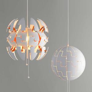 Nordic простой шарик усадки деформации светодиодные люстры ресторан гостиная бар спальня прикроватная подвесная лампа