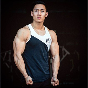 Les nouveaux hommes manches Débardeurs Homme Débardeur en coton alphalete été Hauts gymnases Vêtements Bodybuilding Undershirt Golds top tan Fitness