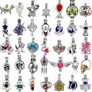 800 Designs für Ihre Wahl-Medaillon Käfige Liebe Wunsch Perle / Edelstein Perlen oyster Perle Halterungen-Weihnachten Perle Käfig-OHNE Akoya Oyster