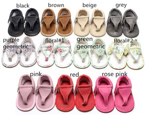 11 colores Baby Girls sandalias de tiras florales sólidas pu suela suave sandalias de puntas de los pies bebés primeros caminantes linda moda mocasines 5 tamaños