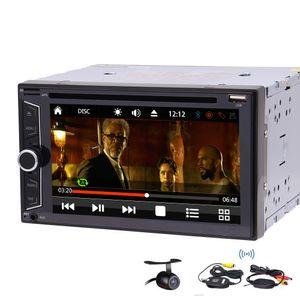 "In Dash 6.2 ""스테레오 자동차 DVD CD 플레이어 라디오 FM Autoradio 블루투스 USB SD AUX 스티어링 휠 다채로운 버튼 UI 디자인 옵션"