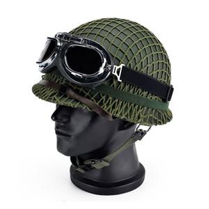Sport im freien amerikanischen klassischen Weltkrieg II Riot Steel Tactical Helm Video Prop Helm Vietnam Krieg uns mit Netting Cover