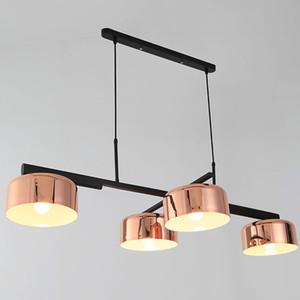 LED moderna Rotating Restaurant lunga del pendente quattro teste lampada a sospensione per bar sala da pranzo di studio semplice PA0240 ufficio Illuminazione