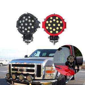 12pcs 오프로드 트럭 트랙터 ATV SUV 지프 운전 안개 조명에 대 한 7inch 51W 자동차 LED 조명 막대 12V 라운드 높은 전력 스팟