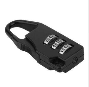 Accessoires de voyage Mot de passe à combinaison à 3 chiffres Serrure à code à bagages Serrure de mini valise pour voyage