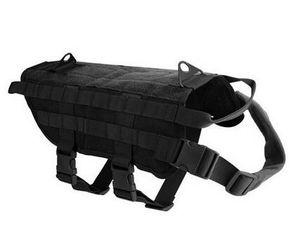 Tático K9 Tático 1000D Molle Nylon Dog Dog Formação Dog Harness Vest Roupas S-XL
