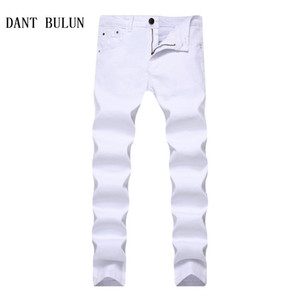 2018 Nouveau extensible Skinny hommes multi solide Casual Noir Rouge Blanc Fashion Jeans Couleur Bleu Kaki Plus Pantalon Taille