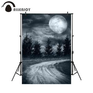 Fondo mayorista para estudio fotográfico Noche de Halloween Camino de la luna Fotografía telón de fondo photobooth photocall profesional