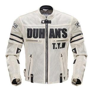 2017 Duhan Motorcycle Moda Corrida jaquetas respirável da luva de malha removível Jacket CE Jackets Caneleiras