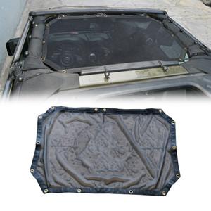Off Road UV protección suave techo superior del coche Malla malla parasol para Jeep Wrangler JK 2/4 puerta