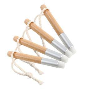 Yıkama Fırçası Temizleme Fırçaları Düz Siyah Burun Ahşap Saplı Temizleme Fırçası Siyah Kafa Burun Temizleme Fırçası Comestic Aracı KKA3976
