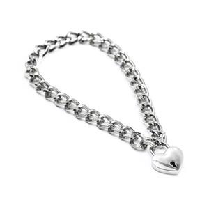Collar de espesor de acero inoxidable con cierre del anillo del cuello del metal del collar BDSM juguetes adultos para la mujer, la cadena del collar de metal con Forma de Estrella bloqueo vendaje