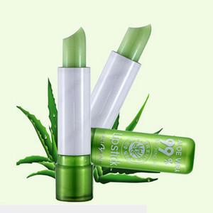 Wholesale Women's Aloe Vera Waterproof Long Lasting Moisturizing Color Changing Lipstick Lip Gloss Balm Women Beauty Large Stock