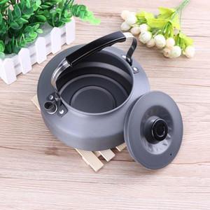 Tragbare ultraleichte 1.6L Kapazität Hochwertige Aluminiumlegierung Outdoor Wandern Camping Überleben Wasserkocher Teekanne Geschirr