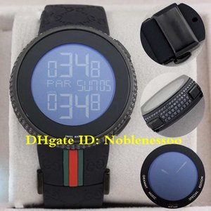 3 Color New Hot Sell Mens Digital Quartz 114 Diamond Watch YA114208 Men's Sport Wrist Watches Black Rubber Band Watches