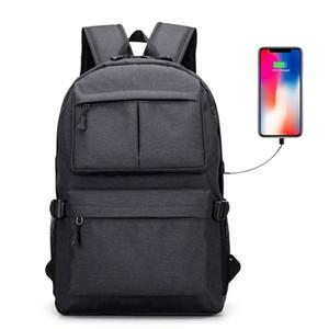 Business-Laptop-Rucksack Wasserdicht College School Daypack mit USB-Ladeanschluss Reise-Camping-Umhängetasche
