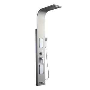 Einteilige 304 badezimmer edelstahl duschwand dusche panel set nicht isotherm duschsäule massage heißen und kalten wasserhahn waschen körper